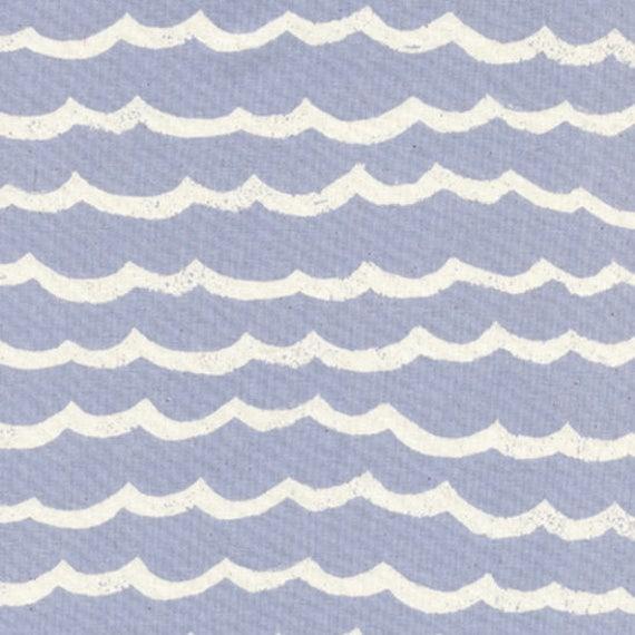 Boppy Cover - KUJIRA Waves in Fog - MADE-to-ORDER - Boppy Lounger Nursing Pillow chambray waves boppy, blue ocean boppy, gender neutral