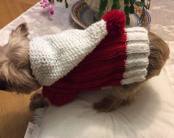 Little red dog between 2 and 3 kg kg wool dog sweater