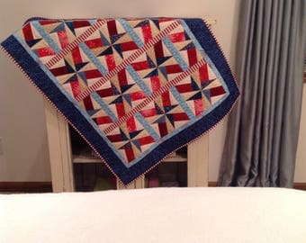Red, White, and Blue Americana quilt