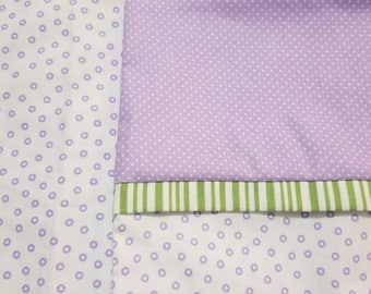Standard Pillowcase Purple Polkadots