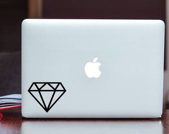 Diamond Vinyl Decal/Sticker Choose Your Color and Size