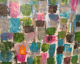 multi color painting, abstract painting, quilt, acrylic painting, canvas painting, original canvas art