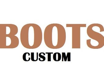 Boots: CUSTOM black/tan wallet