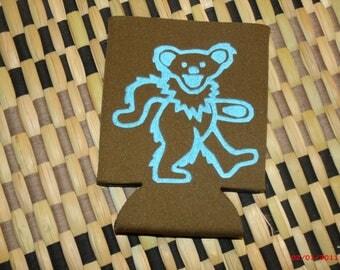 Grateful Dead dancing bear coozie