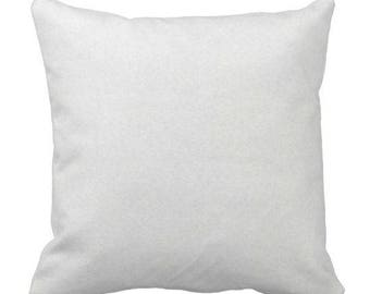 Superior White Throw Pillow, Microsuede Pillow, Decorative Pillow, Accent Pillow,  Simple Pillow,