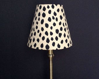 Lamp shade, beige black lampshade, smal table lamp shade, table lamp, nursery lamp