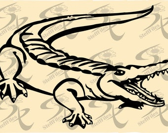 0718_ Crocodile, Reptile, Animals, Vector,Download files,Digital, graphical,AI,EPS, SVG,dxf,png,eps,jpg