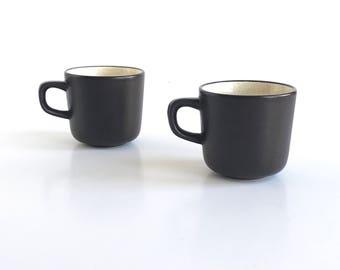 Vintage Mikasa Terra Stone Vanilla Cups, Set of 2 Mikasa Vanilla Cups