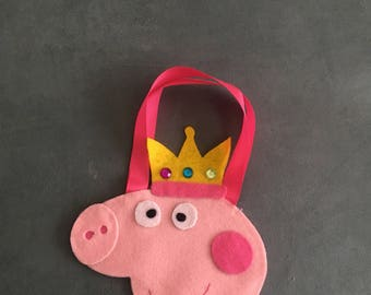 Peppa pig favor bags / goody bags.