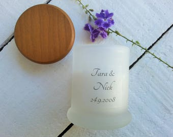 Frosted Wedding Favour Candle, Wedding Favour Candle, Wedding Candles Bonbonniere, Bridesmaid Gift Candle