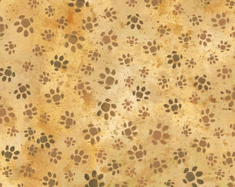Hedgehog Village by Paintbrush Studio - Hedgehog Tracks Brown - Cotton Woven Fabric