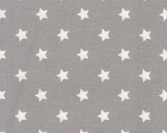 Au maison oilcloth star big Grey grey stars, coated cotton