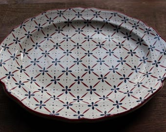 Vintage La ROCHELLE by JOHNSON BROTHERS Oval Serving Platter Ironstone Tray