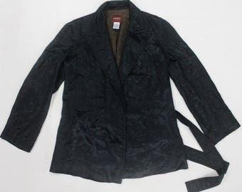 VINTAGE KENZO PARIS shinny velvet blazer jacket coat designer made in france