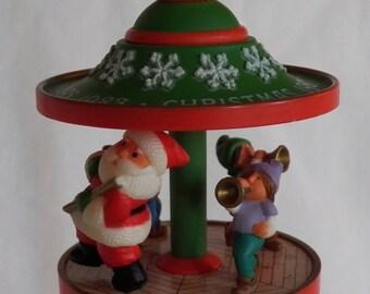 1983 Hallmark Carousel #6 - QX4019 - Santa & Friends
