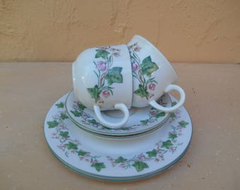 Royal Doulton Tea Set. Vintage Tea Set. Tea Cups and Saucers and Tea Plates. Royal Doulton Expressions Tiverton