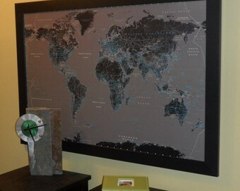 Personalized Modern Push Pin Travel Map
