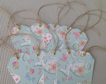 Set of 10 gift tags to hang with ties linen Twine. Set 2.