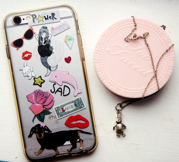 Sad Girl, Mermaid, iphone Case, iphone 6, iphone 7, bunny, pink, dolphin