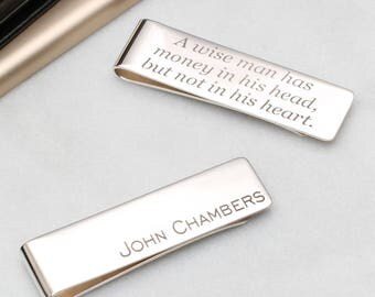 Personalised Hallmarked Sterling Silver Money Clip