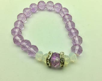 Lavender Crystal Bracelet