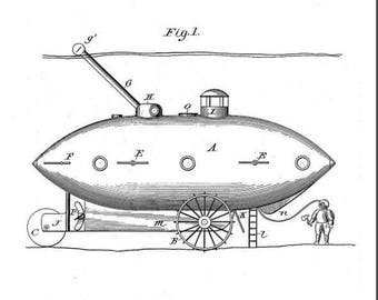 Submarine Vessel Patent #581213 dated April 20, 1897.