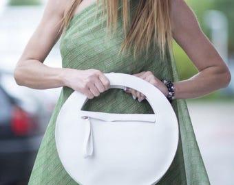 15% SUMMER SALE White Genuine Leather Clutch Bag for Women, Party Clutch Bag, Evening Clutch Bag, White Clutch Bag, Leather Clutch Bag, Hand