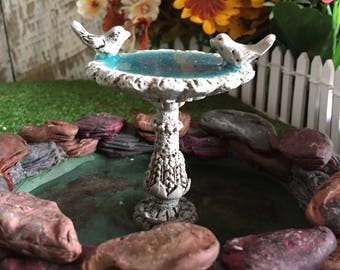 fairy Garden Mini Resin Bird Bath