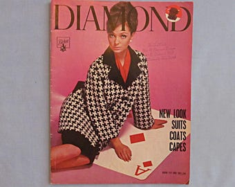 Knitting Pattern Book, Designs for Suits, Coats, Capes, Diamond Yarns, 1960s