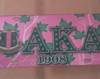 Alpha Kappa Alpha-  Acrylic License Plate