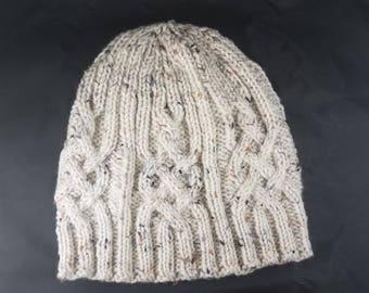 Cable knit hat - winter hat - cable knit winter hat - cable knit - knitted hat - cable hat