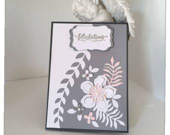 """Wedding congratulations"" greeting card"