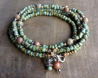 Bohemian bracelet wrap bracelet hippie bracelet boho chic bracelet gemstone womens jewelry boho bracelet boho chic jewelry gypsy bracelet