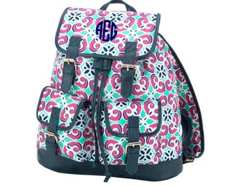 Monogram Backpack Mia Tile Campus Bag