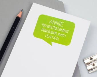 ON SALE Personalised 'Positive Message' Notepad