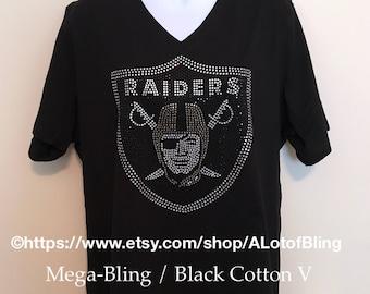 Raiders Mega-Bling Rhinestone T-Shirt