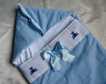 Blue fabric Bunting for baby
