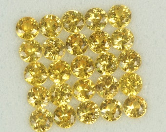 1.41 ct 2.2 mm UNTREATED Canary YELLOW SAPPHIRE Parcel!