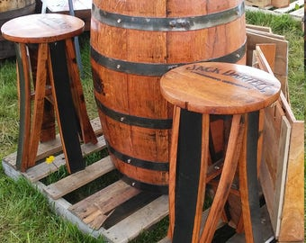 Jack Daniels Barrel Bistro Table With Or Without Matching Jack Daniels Bar  Stools Man Cave Handcrafted