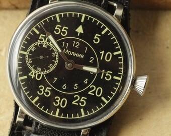Mens Wrist Watch Massive Сase Symbols of USSR Call. 3602