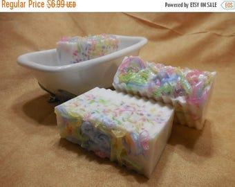 On Sale Birthday Cake Soap - Birthday Party - Birthday Cake - Unique Gift - Handmade Decorative Goats Milk Soap - Gift For Her - Kids Party
