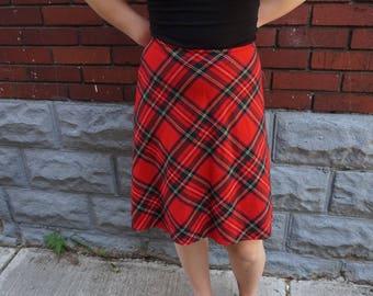 Tommy Hilfiger Red Plaid Schoolgirl Skirt