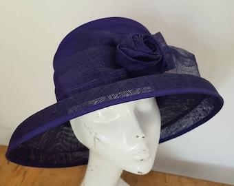 Vintage hat - formal hat - purple  - races - wedding hat by Condici