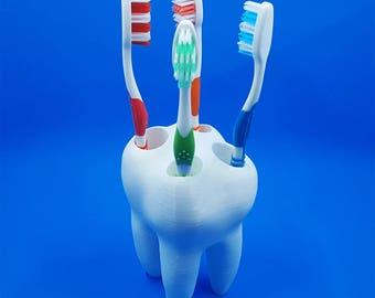Big Tooth Toothbrush Holder - Kids Toothbrush Holder - Toothbrush Holder - Dentist Office Decor - Bathroom Decor - Christmas Gift