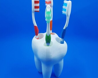 Big Tooth Toothbrush Holder - Kids Toothbrush Holder - Toothbrush Holder - Dentist Office Decor - Bathroom Decor - Easter Gift