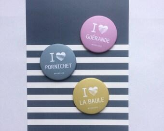 Set of 3 magnets La Baule/sea/LePouliguen ✭