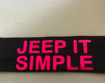 Jeep It Simple Headband-Black