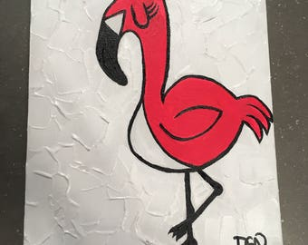 Tristan Flamingo Pink canvas original