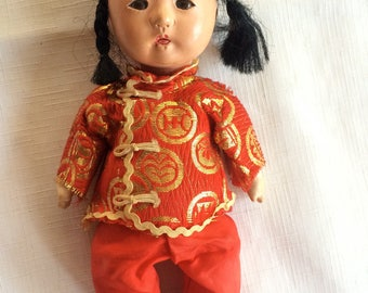 Chinese Doll,Asian Doll,Japanese Doll,Oriental Doll,Retro Asian Doll,Retro Japanese Doll,Chinese Composite Doll,Retro Chinese Doll,Asian Toy