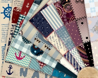 30%OFF Digital Patchwork Quilt Fabric Paper Pack , Digital Scrapbooking papers, Fabric Digital Collage Paper 12x12 Buy 2 Get 1 FREE